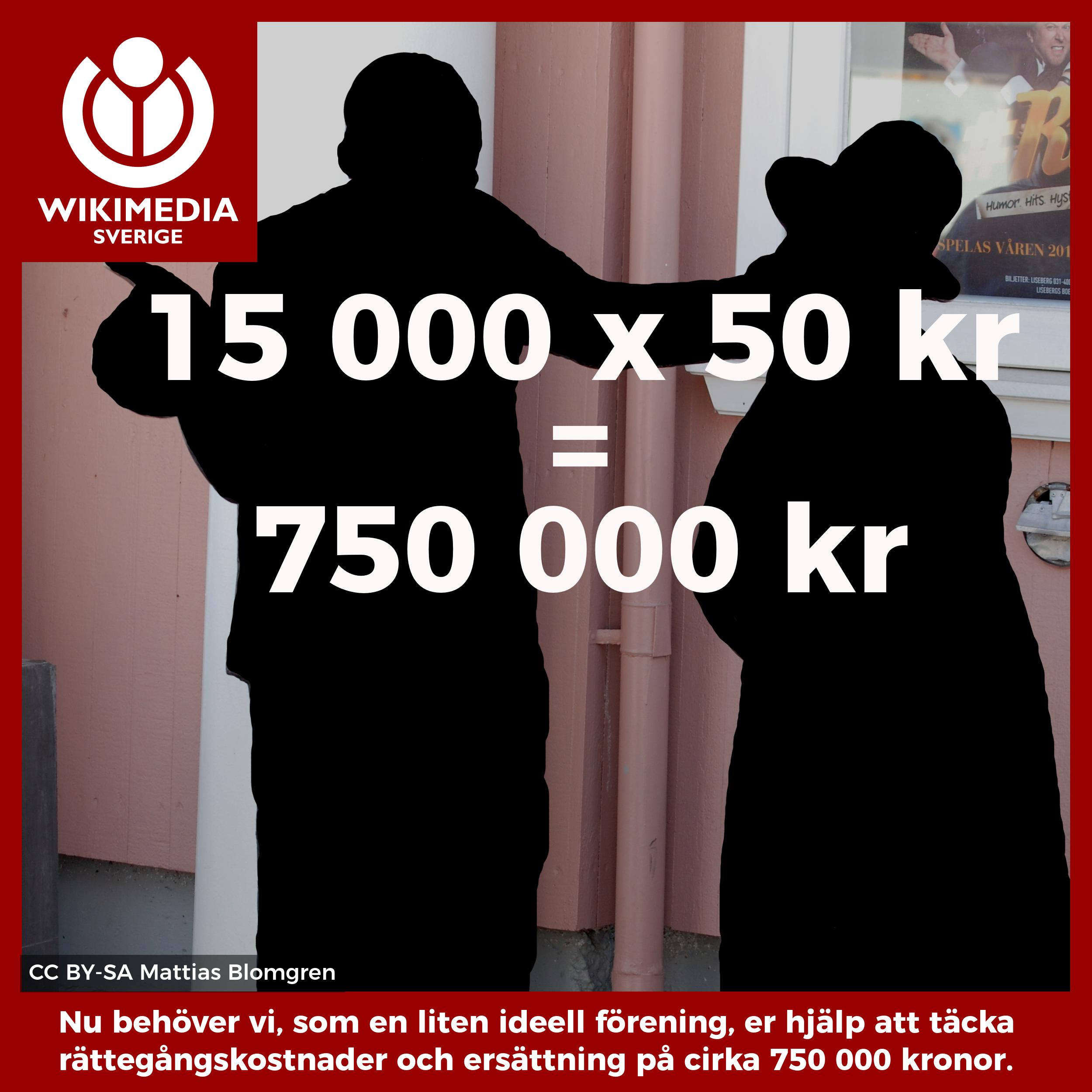 15 000 x 50 kr = 750 000 kr.