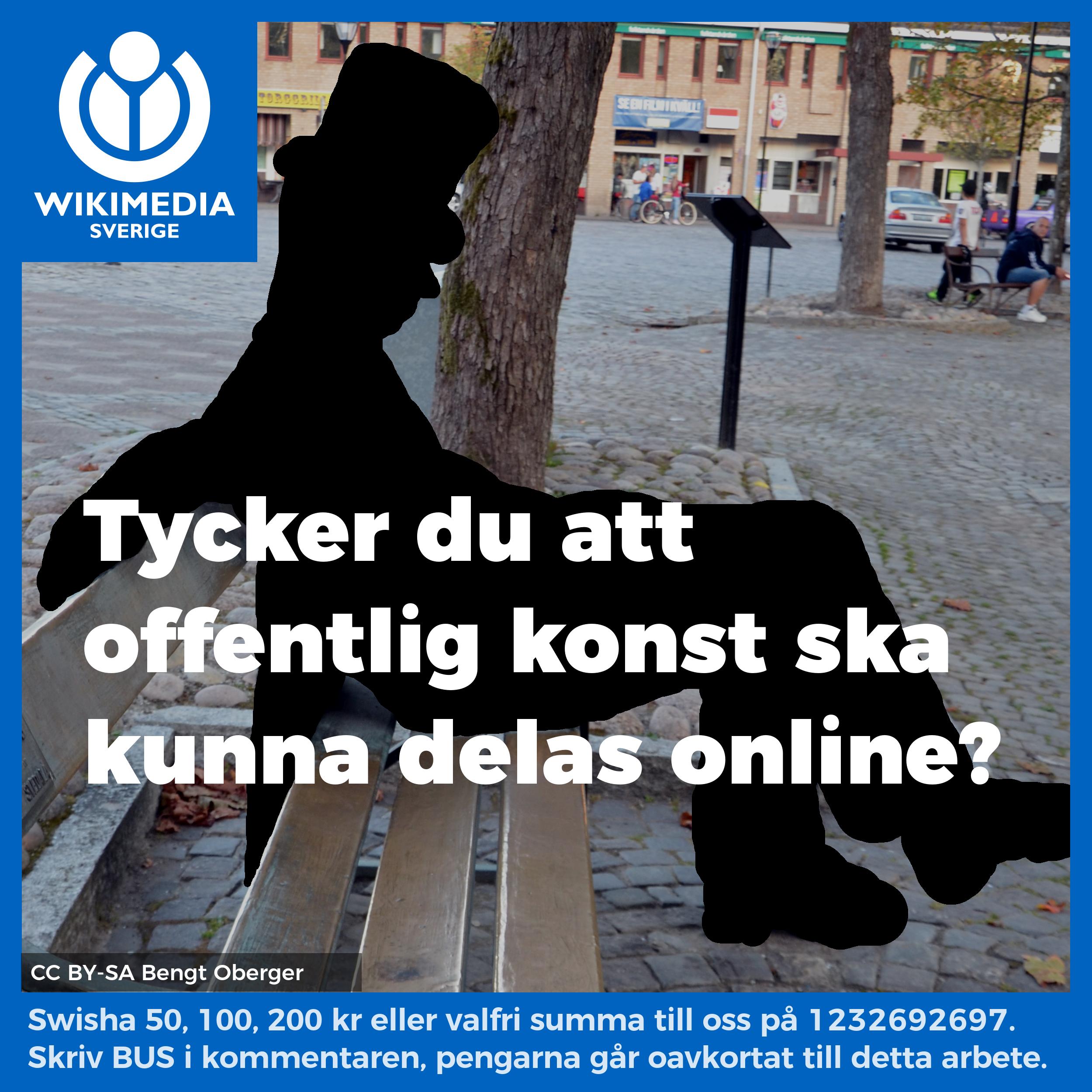 Tycker du att offentlig konst ska kunna delas online? På bilden syns inte Näckens polska av konstnären Bror Hjorth.