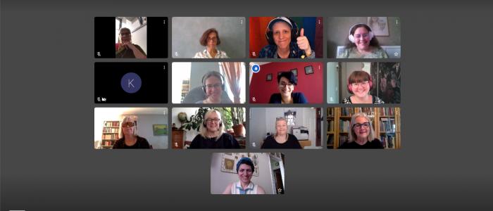 Deltagargalleri med personerna som deltog på WikiKvinnor 2020.